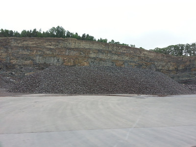a quarry we passed along the way.